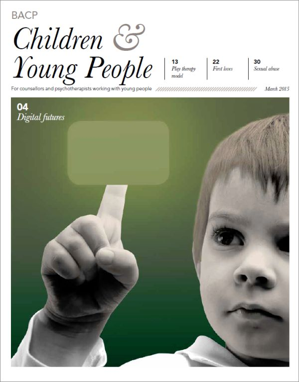 Cover of BACP Children and Young People journal March 2015