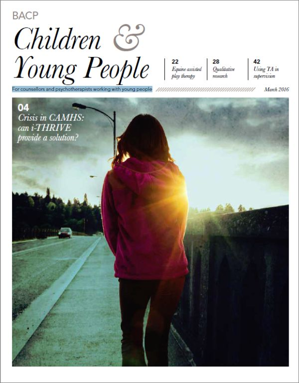 Cover of BACP Children and Young People journal March 2016