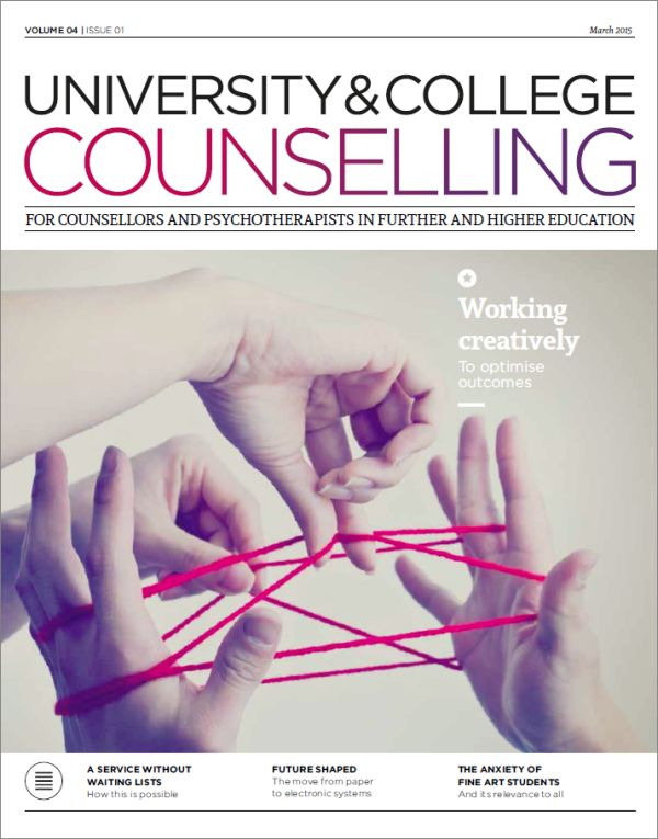 Cover if University and College Counselling March 2015