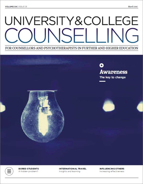 Cover of University and College Counselling March 2016