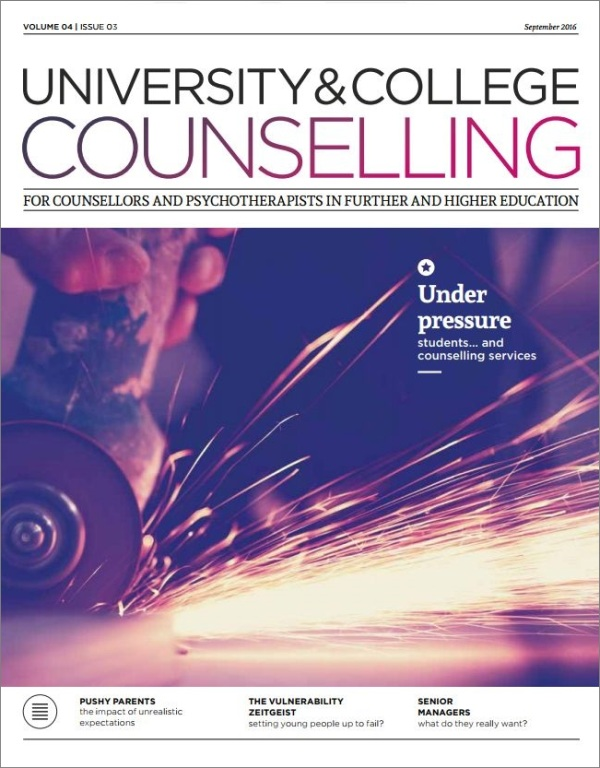 Cover of University and College Counselling September 2016
