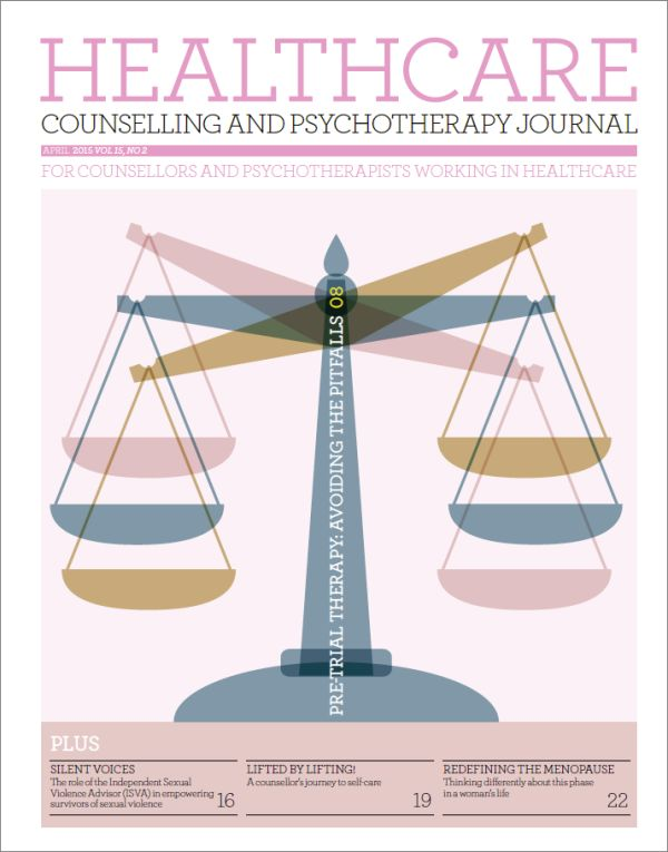 Cover of Healthcare Counselling and Psychotherapy Journal April 2015
