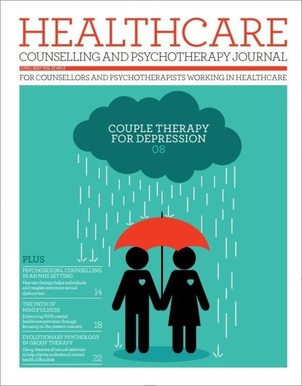 Cover of Healthcare Counselling and Psychotherapy Journal April 2017