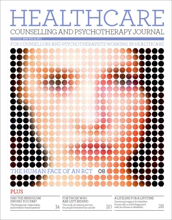 Cover of Healthcare Counselling and Psychotherapy Journal January 2015