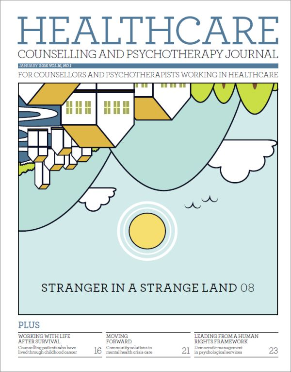 Cover of Healthcare Counselling and Psychotherapy Journal January 2016
