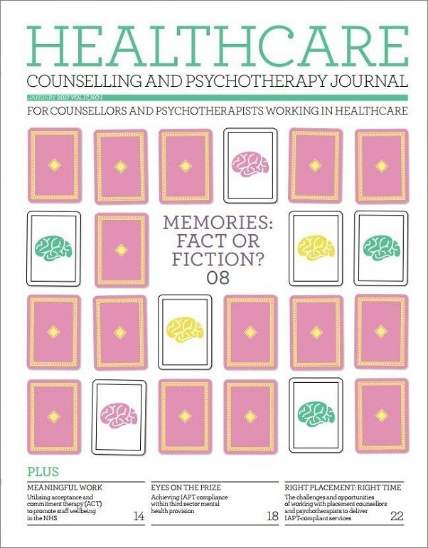 Cover of Healthcare Counselling and Psychotherapy Journal January 2017