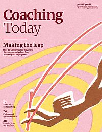 Cover of Coaching Today, July 2021