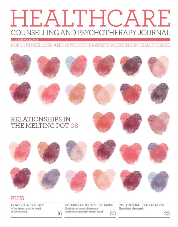 Cover of Healthcare Counselling and Psychotherapy Journal July 2015