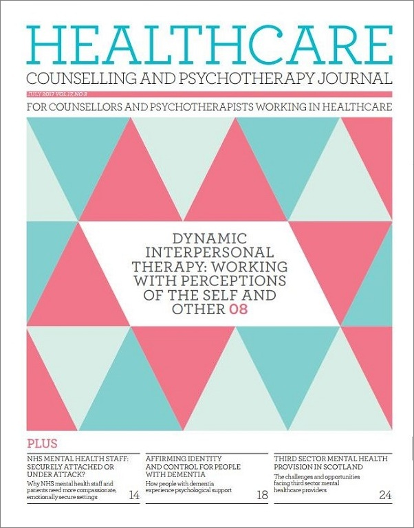 Cover of Healthcare Counselling and Psychotherapy Journal, July 2017