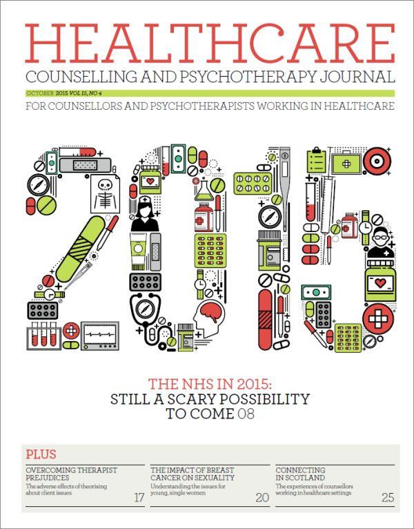 Cover of Healthcare Counselling and Psychotherapy Journal October 2015