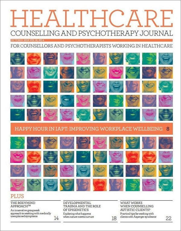 Cover of Healthcare Counselling and Psychotherapy Journal October 2016