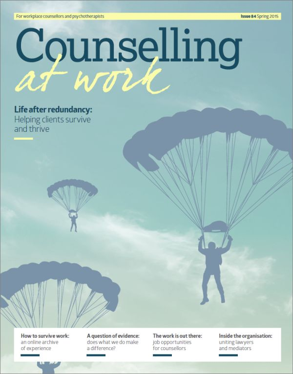 Cover of Counselling at Work Spring 2015