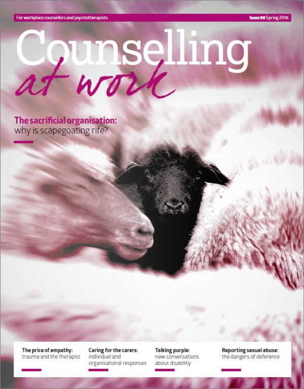 Cover of Counselling at Work Spring 2016