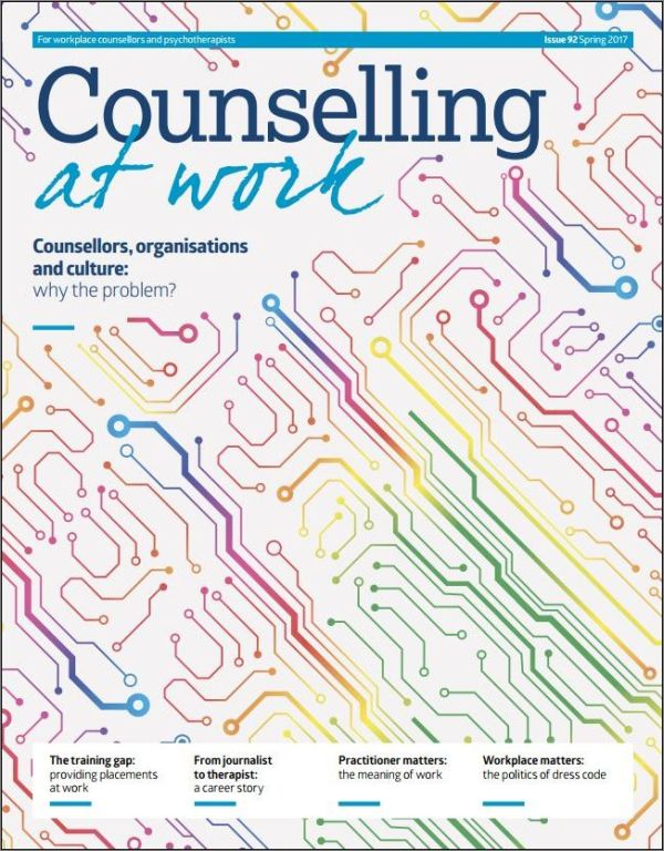 Cover of Counselling at Work, Spring 2017
