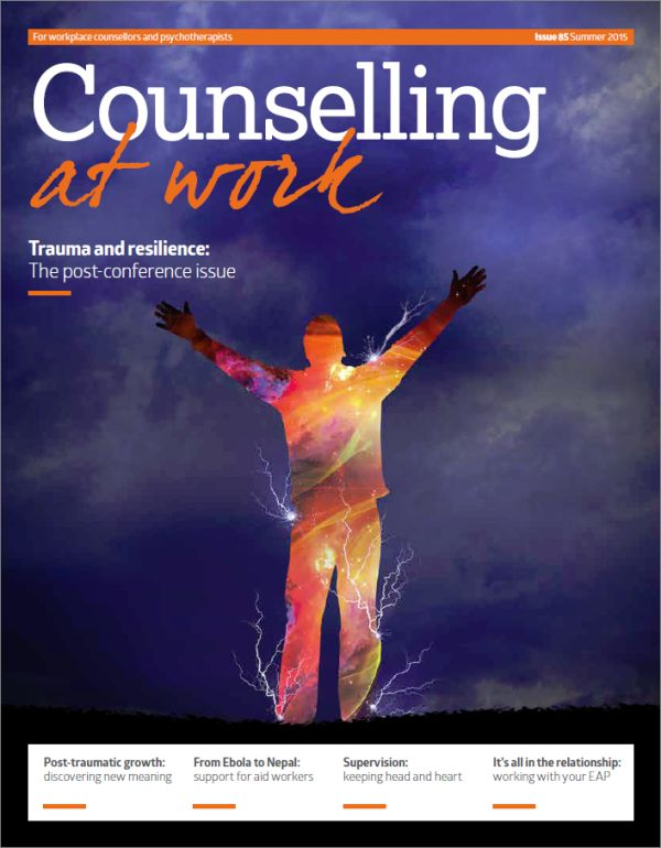 Cover of Counselling at Work Summer 2015