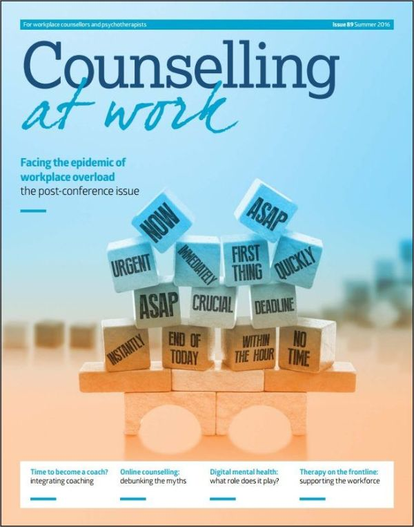 Cover of Counselling at Work Summer 2016