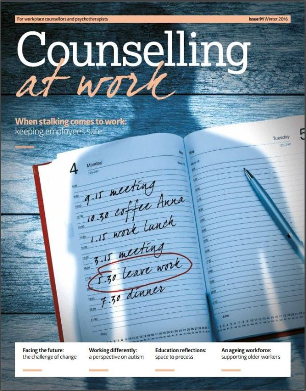 Cover of Counselling at Work Winter 2016