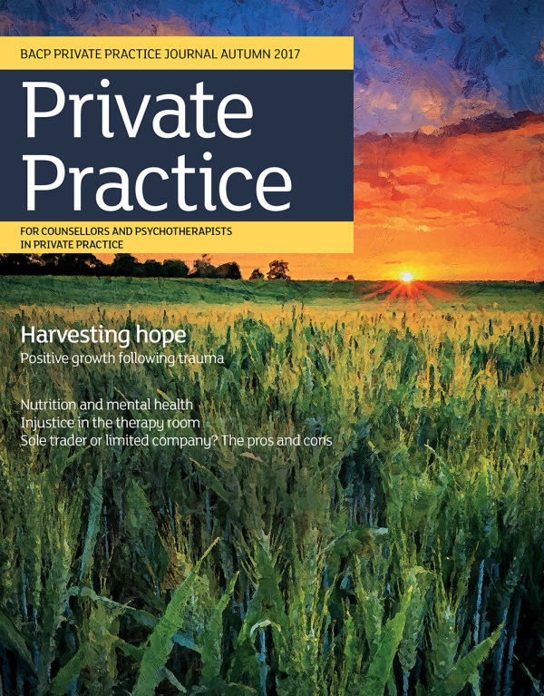 Cover of Private Practice journal autumn 2017