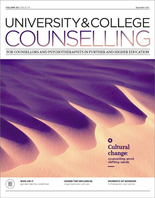 Cover of University and College Counselling journal September 2017