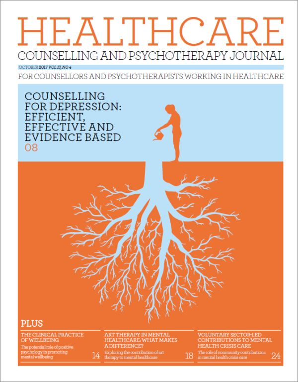 Cover of Healthcare Counselling and Psychotherapy Journal October 2017