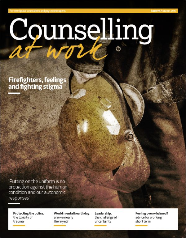 Cover of Counselling at Work Autumn 2017
