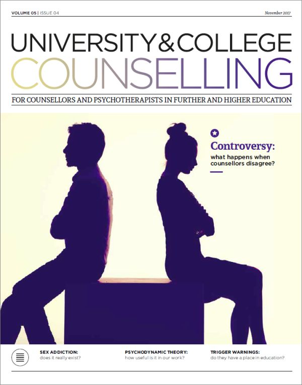 Cover of University and College Counselling November 2017