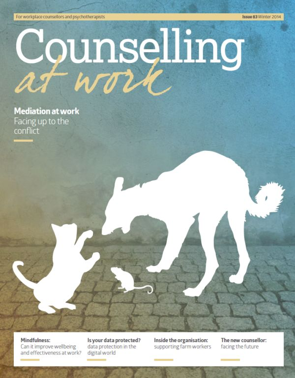 Cover of Counselling at Work Winter 2014