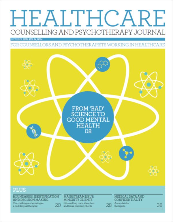 Cover of Healthcare Counselling and Psychotherapy Journal, October 2014