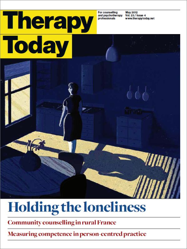 Cover of Therapy Today, May 2012