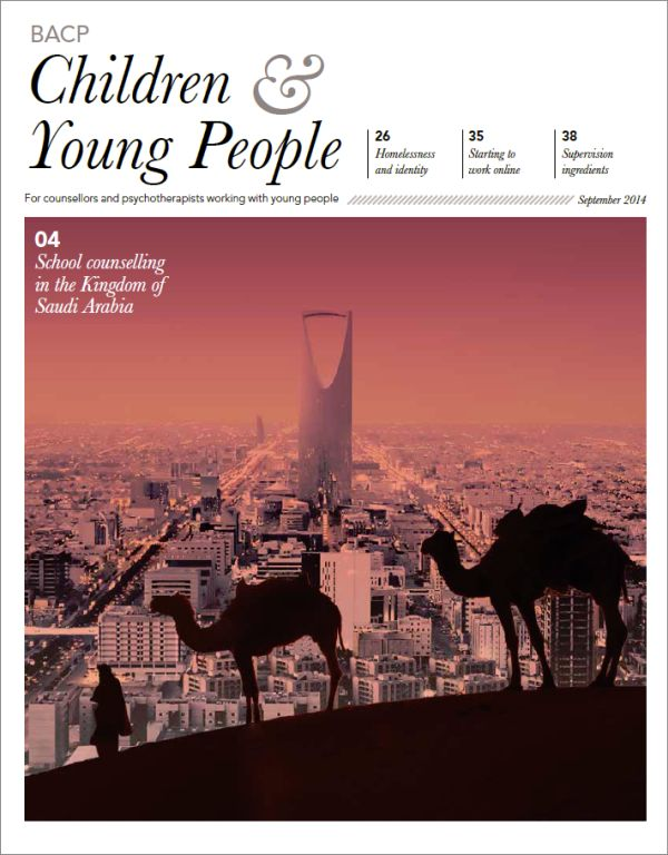 Cover of BACP Children and Young People journal, September 2014