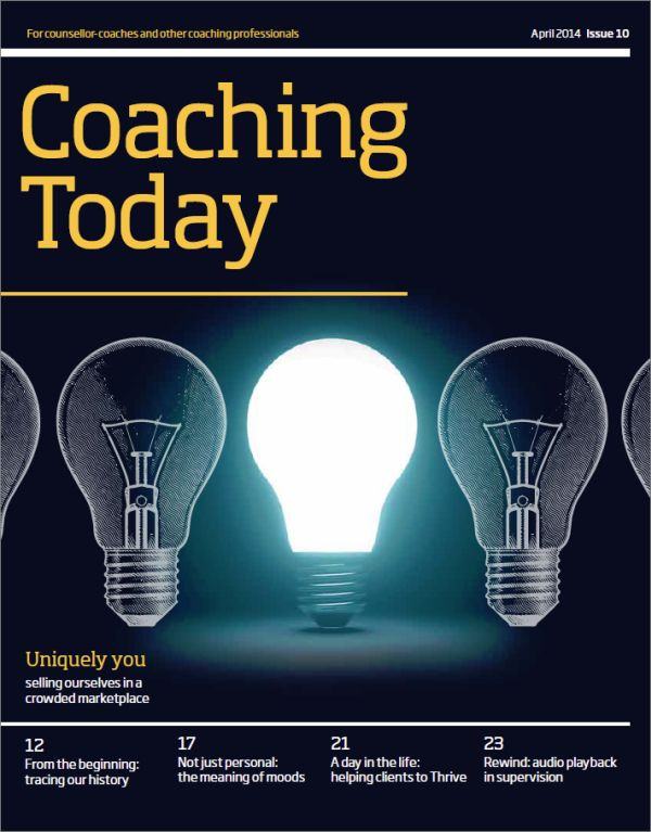 Cover of Coaching Today, April 2014 issue