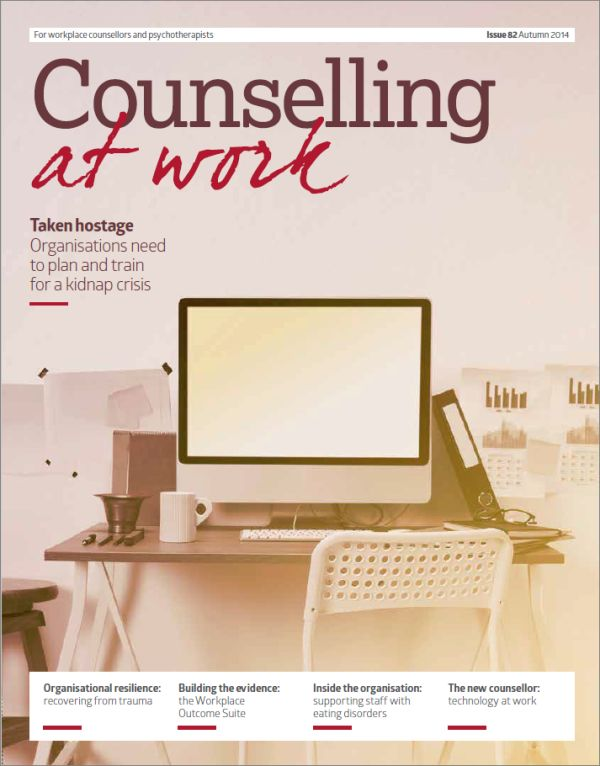 Cover of Counselling at Work, Autumn 2014