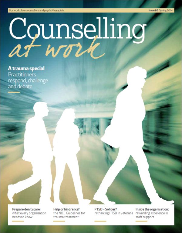 Cover of Counselling at Work, Spring 2014