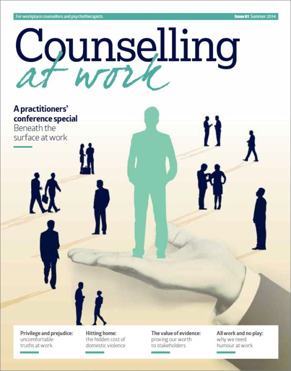 Cover of Counselling at Work, Summer 2014