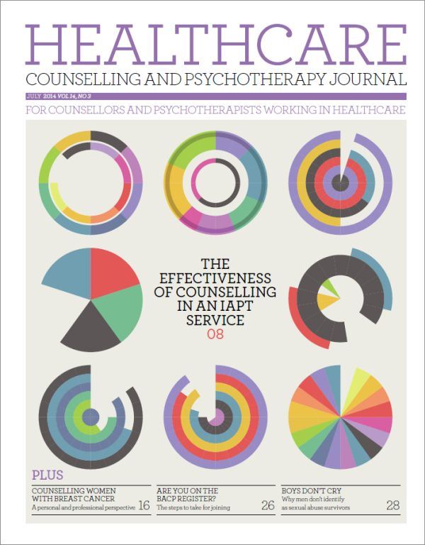 Cover of Healthcare Counselling and Psychotherapy Journal, July 2014