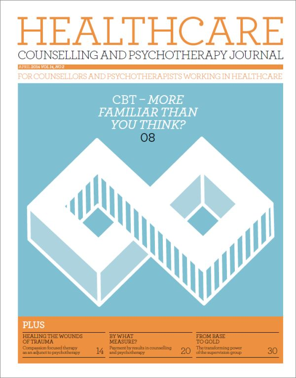 Cover of Healthcare Counselling and Psychotherapy Journal, April 2014