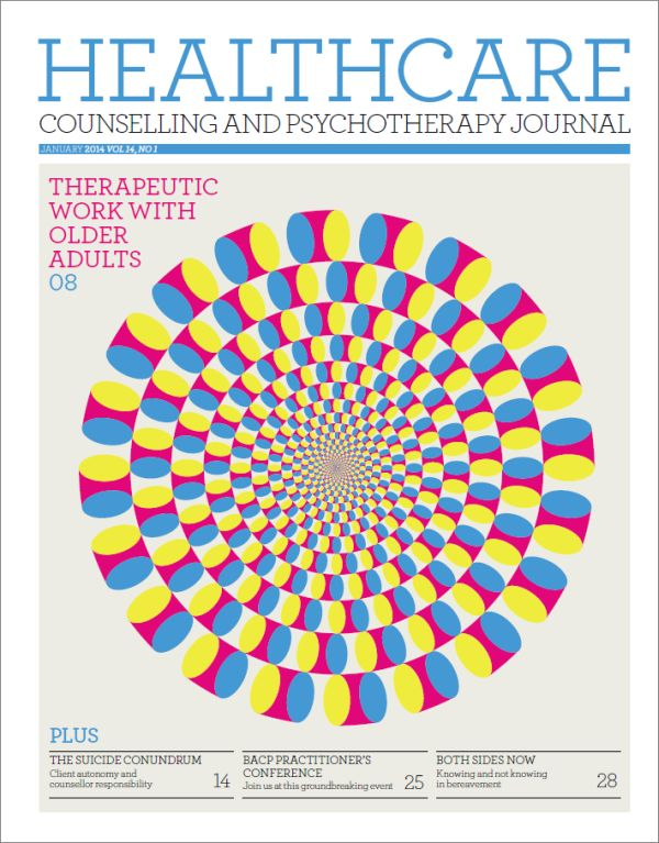 Cover of Healthcare Counselling and Psychotherapy Journal, January 2014