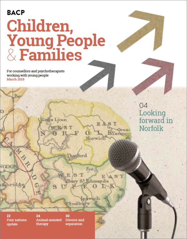 Cover of BACP Children, Young People and Families journal, March 2018