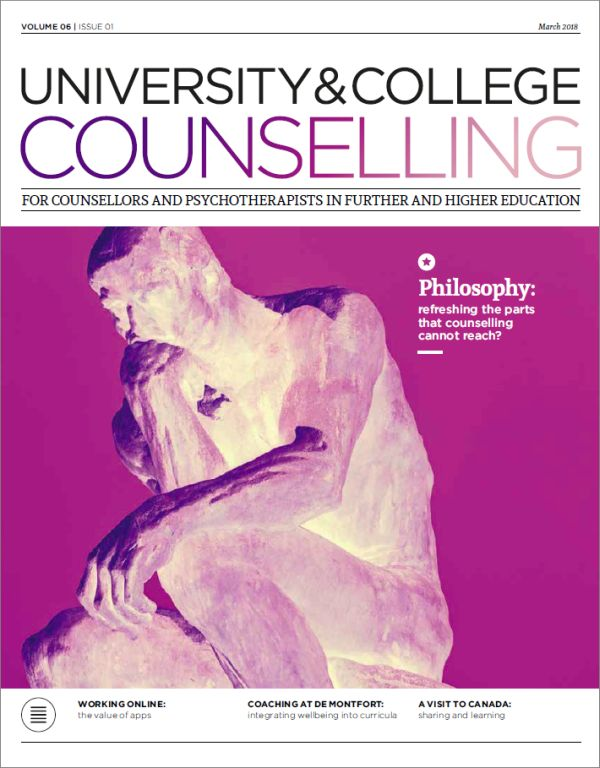 Cover of University and College Counselling, March 2018