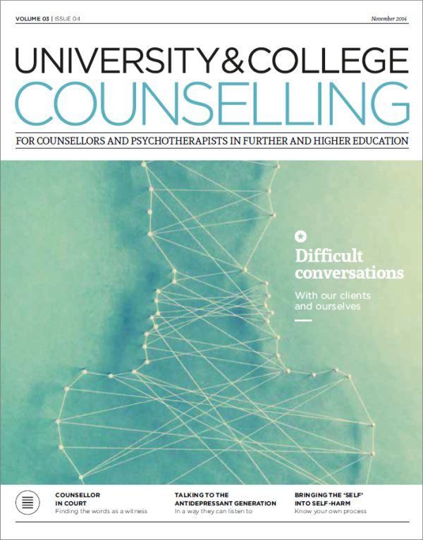 Cover of University and College Counselling, November 2014