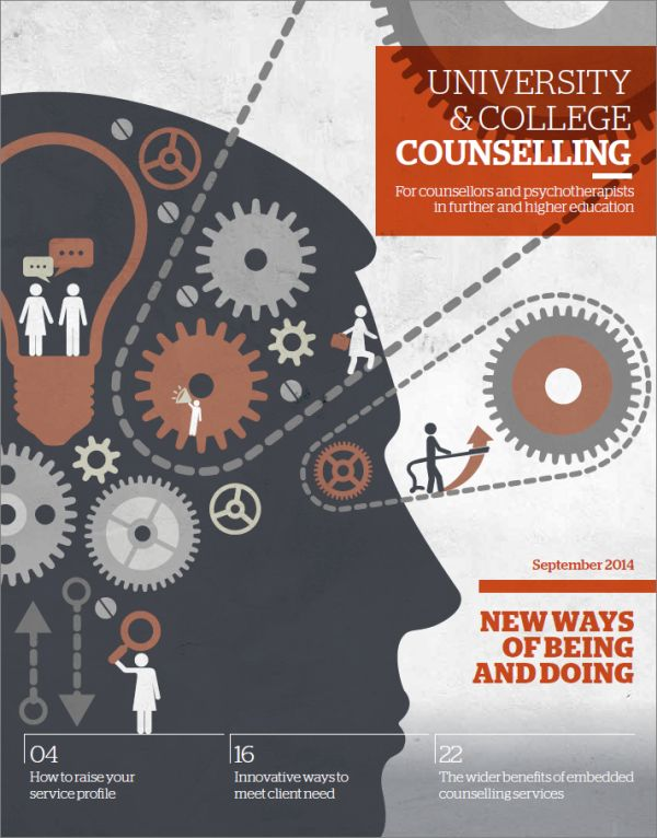 Cover of University and College Counselling, September 2014
