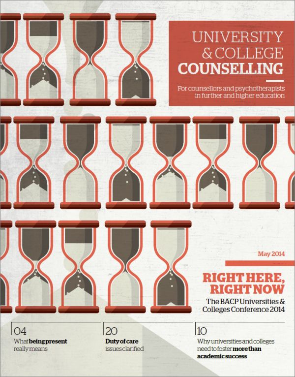 Cover of University and College Counselling, May 2014
