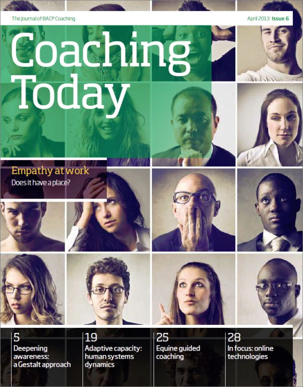 Cover of Coaching Today, April 2013