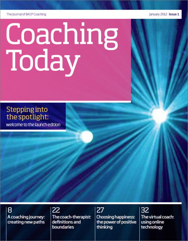 Cover of Coaching Today, January 2012