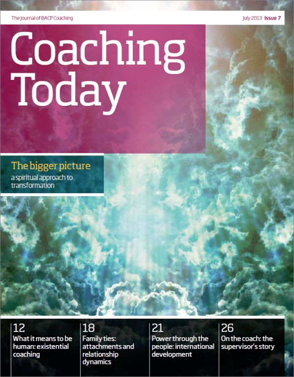 Cover of Coaching Today, July 2013