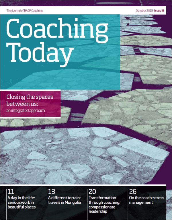 Cover of Coaching Today, October 2013