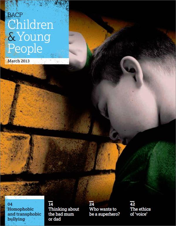 Cover of BACP Children and Young People, March 2013