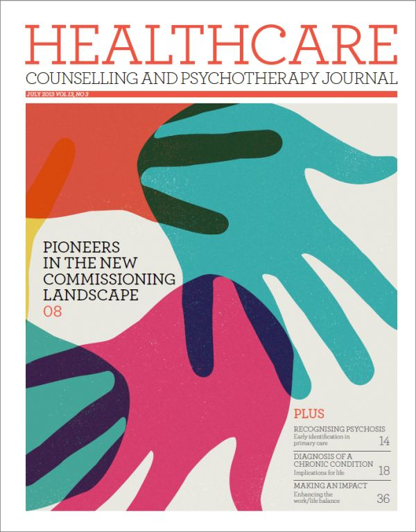 Cover of Healthcare Counselling and Psychotherapy Journal, July 2013 issue