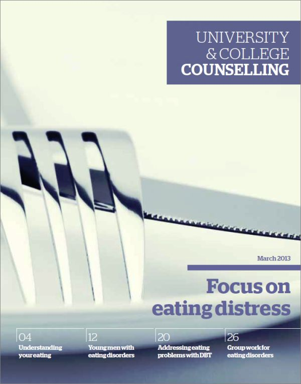 Cover of University and College Counselling, March 2013