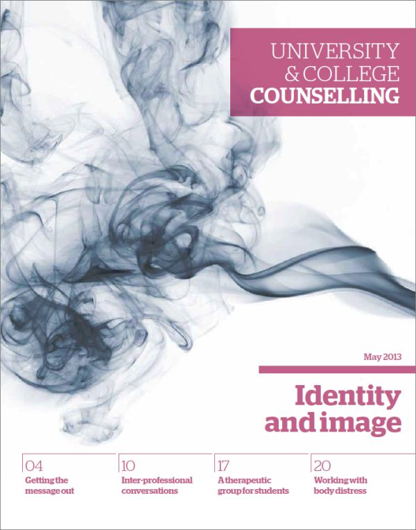 Cover of University and College Counselling, May 2013